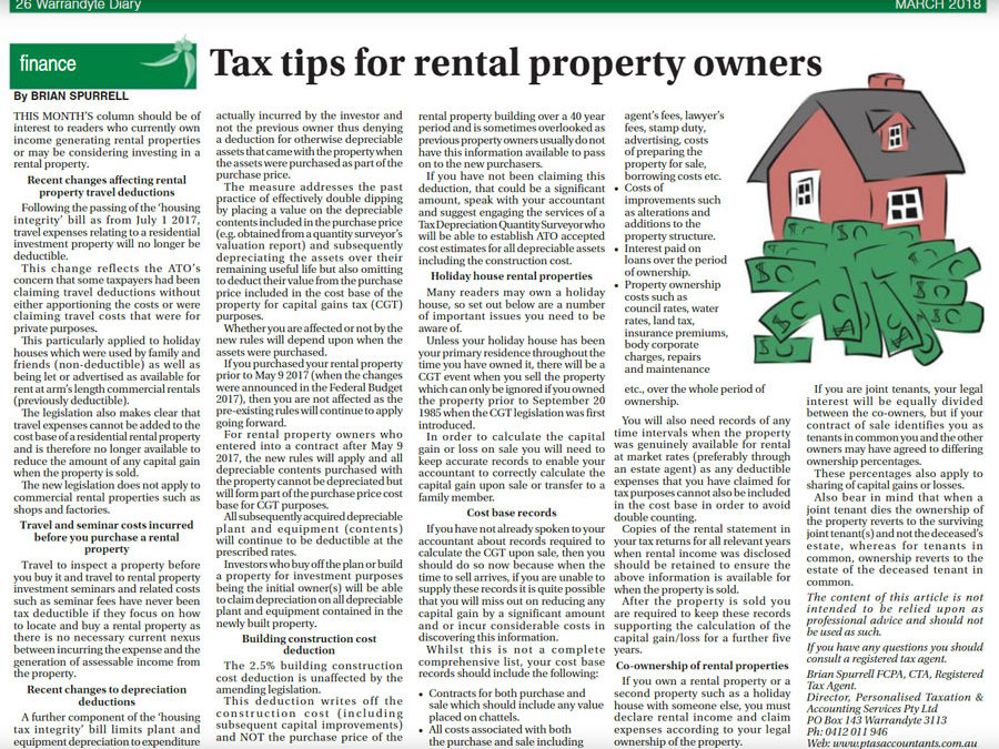 Tax Tips for Rental Property Owners